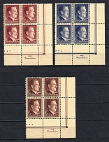 1942 General Government, Germany (Corner Margins, Control Text, Control Number, Blocks of Four, Full Set, CV $10, MNH)
