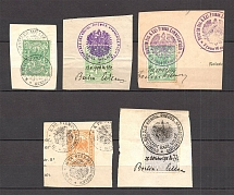 1903-11 Prussia Germany Revenue Stamps (Canceled)