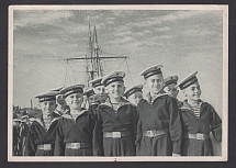 1948. Postcard Leningrad. Pupils of the Nakhimov School