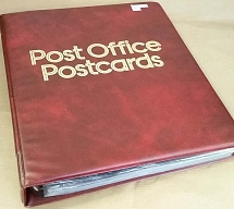 Accessories Post Office 4-ring postcard album incl 35 4-pocket leaves, vgc