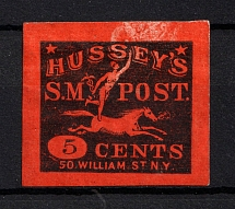 1863 5c `Hussey's` New York, USA, Local