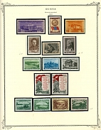 SOVIET UNION PRACTICALLY COMPLETE COLLECTION IN TWO SCOTT SPECIALTY ALBUMS: 1941-71, about 3200 mint stamps and almost 70 souvenir and miniature sheets, including all important issues of the period, some of them are MNH