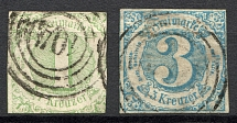 1859-61 Thurn und Taxis Germany (Cancelled)