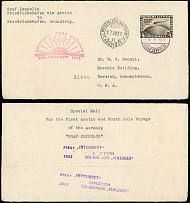 Germany-Zeppelin Flights July 25-27, 1931, North Pole Flight cover