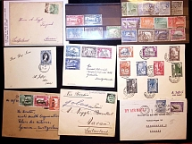 1897-1937, Lot of 17 covers or cards plus a selection of used stamps on cards, n