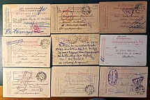 World War I. 31 letters from prisoners of war (from Russia) and Russian prisoner