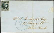 1847, Washington 10 c. black, fresh colour and good to wide margins all around,