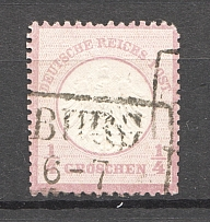 1872 Germany 1/4 Gr (CV $150, Cancelled)