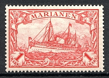 1901 Mariana Islands German Colony 1 Mark