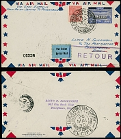 Brazil Air Post Semi-Official issues May 24-26, 1930, 1st SAF from Rio to Recife
