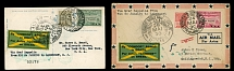 Brazil Air Post Semi-Official issues May 24-31, 1930, Zeppelin 1st SAF, 2 covers