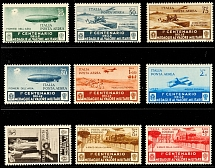 25 C. To 3 L. Airmail stamps and 2 to 4, 50 L. Airmail special messenger