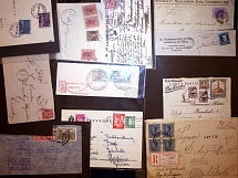 1898-1953, World-wide lot of 106 covers and cards with mostly airs from mainly S