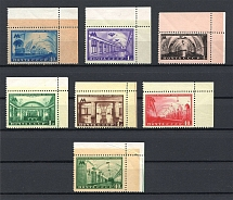 1950 USSR Moscow Subway Stations (Corner Stamps, Full Set, MNH)