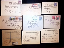 1902-70 Lot of 29 items with several registered items, officials, war tax cover,