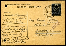 1940: 12 (gr) Provisional Postal Stationery Card