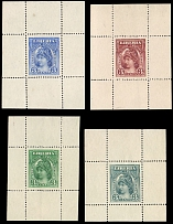 Liberia, 1903, Liberty, set of four perforated die proof panes of 3c