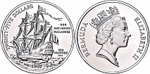 25 Dollars, Palladium, 1987, Sea Venture, KM 53, 1 Oz fein, PP.25 Dollars, palladium, 1987, Sea