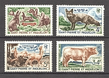 1964 St. Pierre & Miquelon French Colony (CV $30, Full Set)