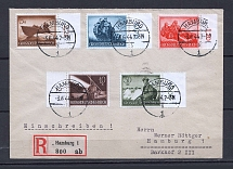 1944 Third Reich registered cover to Hamburg with forces stamps