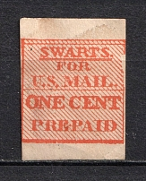 1c `Swarts` New York City Despatch Post, USA, Local