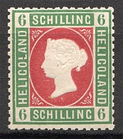 1869-73 Heligoland Germany 6 Sh (Rose-Red)