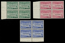 Brazil Air Post Semi-Official issues 1930, Zeppelin stamps, 4th set in blocks