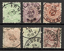 1875-94 Wurttemberg Germany Group (Cancelled)