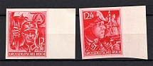 1945 Third Reich Last Issue, Germany (Imperforated, Margins, Full Set, MNH)