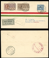 Vatican City First and Pioneer Flight Covers January 24-25, 1930, Rome-Marseille