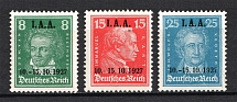 1927 Third Reich, Germany (Mi. 407-409, Full Set, CV $310, MNH)