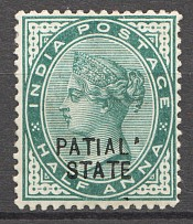 1891-96 Patiala State British India Missed Letter `A` in `PATIALA`