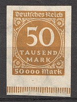 1923 Germany 50.000 Mark (Imperf)