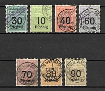 1906-10 Saxony Railway Stamps (Cancelled)