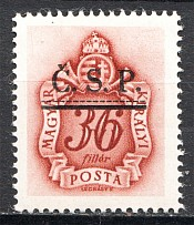 1945 Roznava Slovakia Ukraine CSP Local Overprint 36 Filler (MNH)
