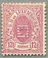1876, 12 1/2 c., rose lilac, perf. 13, LPOG, with paperstructure on reverse,