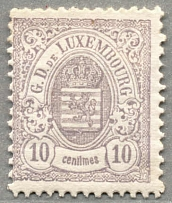 1880, 10 c., lilac grey, perf. 12 1/2:12, LPOG, with some paperstructure on