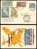 Vatican City First and Pioneer Flight Covers January 15-17, 1931, Rome - Milan