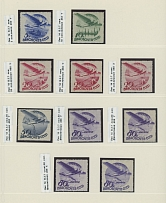 Soviet Union CIVIL AVIATION ISSUES: 1934, 30 mint stamps
