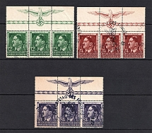 1944 General Government, Germany (Eagle on the Field, Strips, Full Set, Canceled)