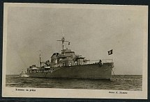 1941. Postcard Destroyer in the raid