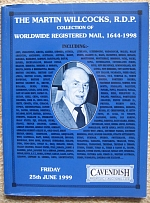 Literature Martin Willcocks Worldwide Registered Mail 1644-1998 sale: Cavendish