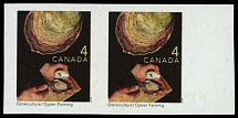 Canada, 1999, Oyster Farming, 4c multicolored, horizontal imperforated pair