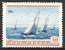 1954 USSR Sport in the USSR 40 Kop (Print Error, Shifted Background, MNH)