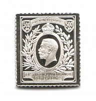 1912-18 East Africa (Sterling Silver Miniature, Greatest Stamps of The World)