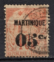 1888-91 05c Martinique, French Colonies (CV $50, Canceled)
