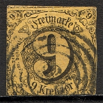 1852-58 Thurn und Taxis Germany 9 Kr (CV $45, Cancelled)
