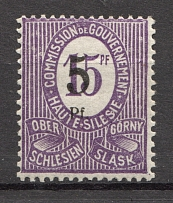 1920 Germany Joining of Silesia (CV $240, Ovp on Wrong Stamp, Signed)