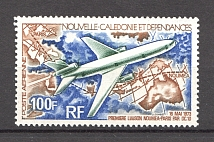 1973 New Caledonia French Colony Airmail (CV $10)