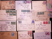 1895-1969, Selection of 49 covers and cards plus some loose stamps, noted some Q